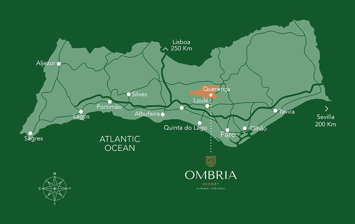 Ombria Locatie