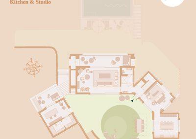 Plattegronden appartement Alcedo Villa Ombria Resort