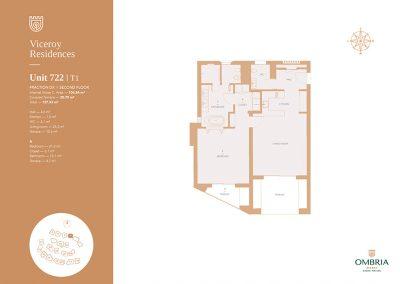 Plattegronden appartement Viceroy Ombria Resort