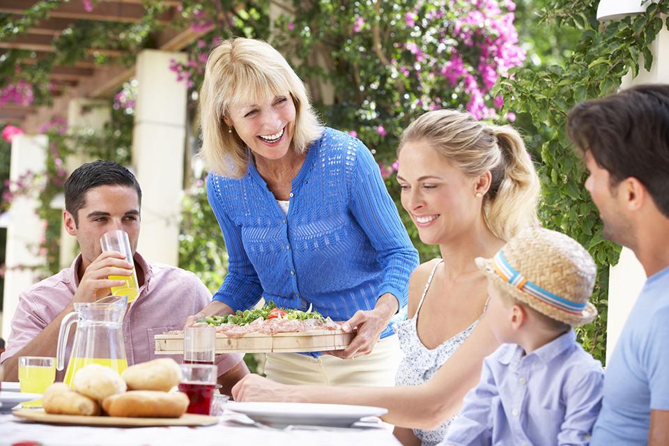 Silvercoast gezin aan tafel West Cliffs